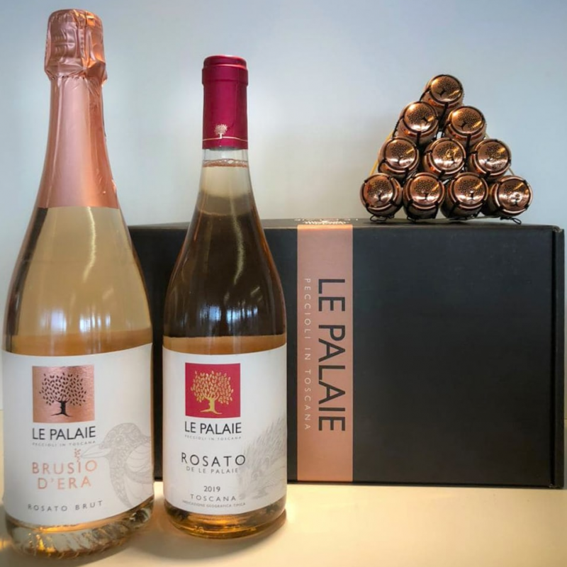 Box Regalo Spumante Brusio & Rosato Le Palaie