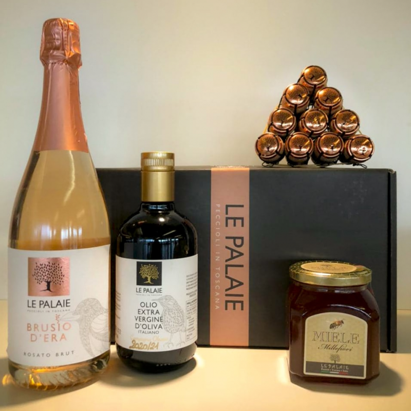 Box Regalo Spumante & Olio & Miele Le Palaie